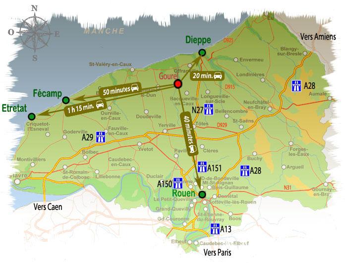Les lieux touristiques prochent du gite de la charretterie gite normandie - Office du tourisme seine maritime ...
